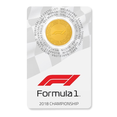 2018 Formula 1® 1/4-oz Gold Coin